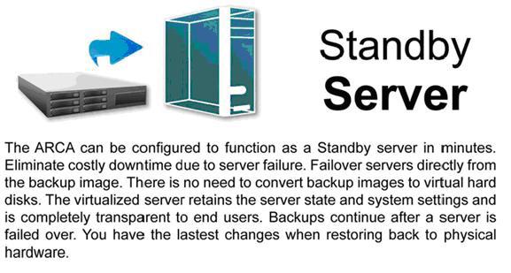 standbyserver ARCA   Backup server